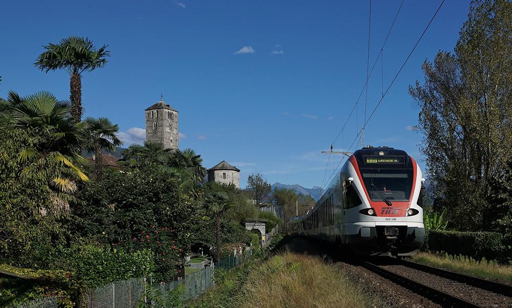 Bahn kurz vor Locarno